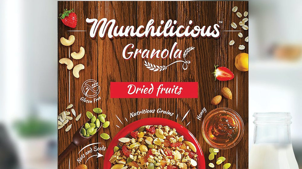 Munchilicious Granola - Dried Fruits40gm