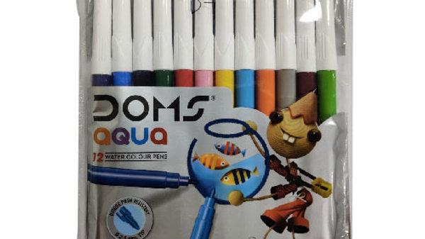 Doms Aqua 12 Water Colour Pens 1 PC