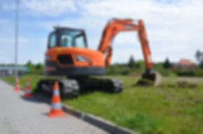 8 Tonne 360 Tracked Digger - Doosan DX85R-3 Reduced Tail Swing Excavator