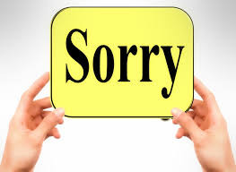 What a Relief! Learning How to Apologize