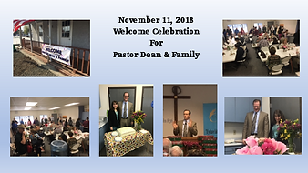 Welcoming Pastor Dean & Family 11.11.18.