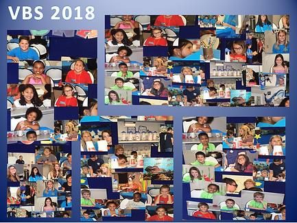 VBS 2018 collage for childrens ministrie