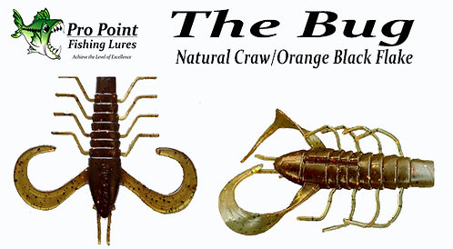The Bug - Natural Craw Orange Black Flake