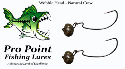 Natural Craw Wobble Head