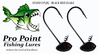 Black Red Flake Stand Up Jig