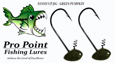 Green Pumpkin Stand Up Jig