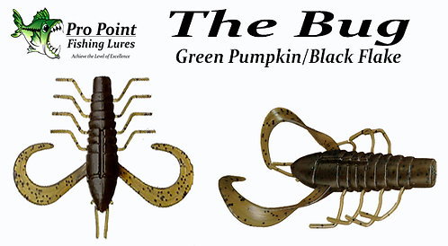 The Bug - Green Pumpkin Black Flake