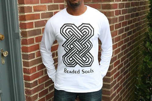 Beaded Souls White T