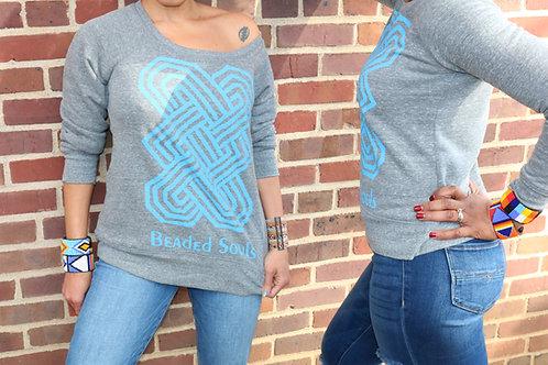 Beaded Souls Gray Sweatshirt