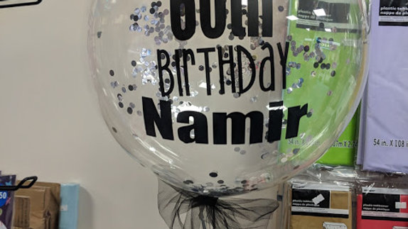 "20"" Personalised Deco Bubble balloon filled with confetti - personalised"