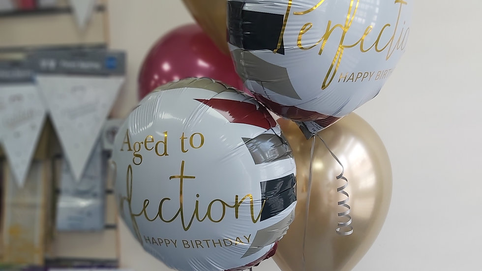 Bouquet of 5 balloon (2x foils 3 latex )