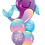 """Thumbnail: Supershape foil balloon with 2 18"""" foil balloons and 2 latex"""