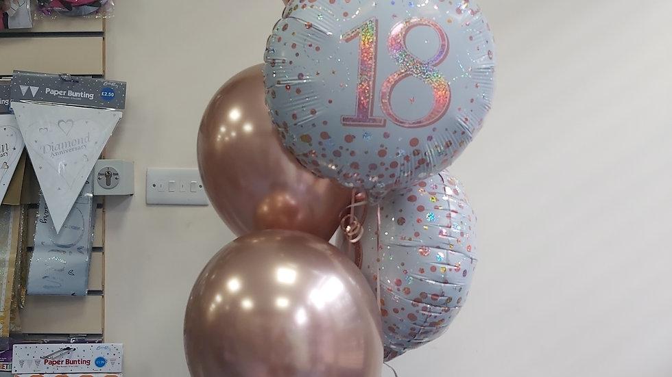 Bouquet of 5 balloon (2x foils 3 latex )