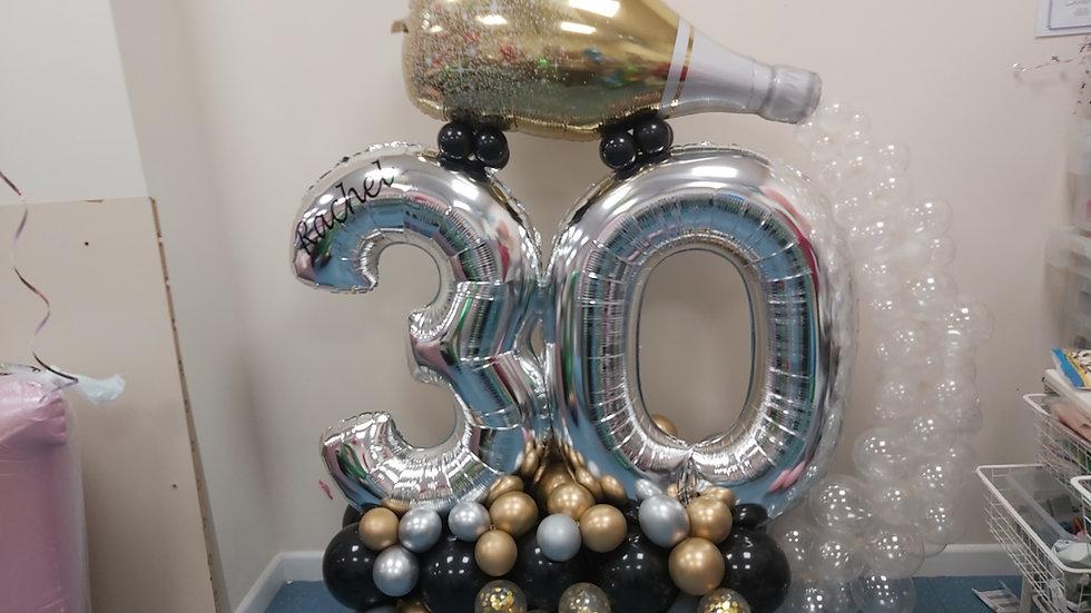 Number Garland  witn Champagne bottle spil