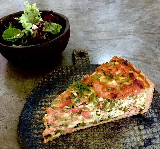 Lime Tree Salmon quiche