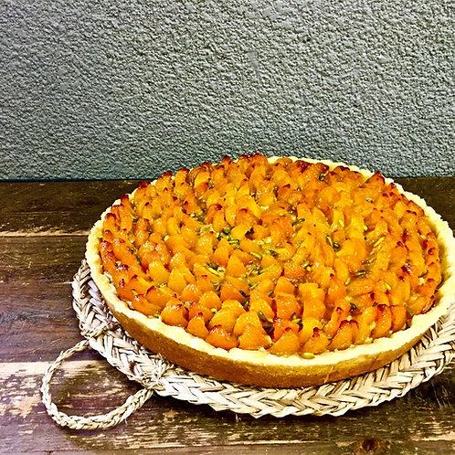 Roasted Apricot & Pistachio Tart
