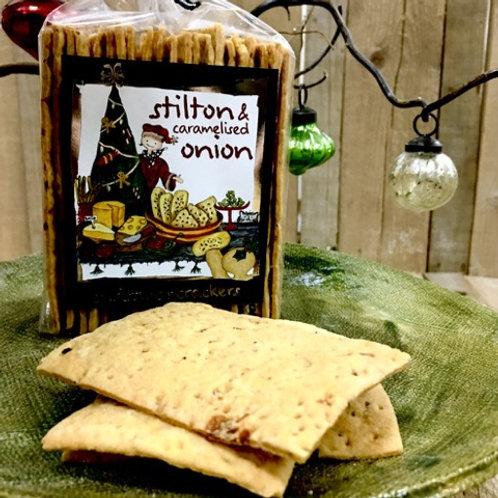 Stilton & Caramelised Onion Crackers