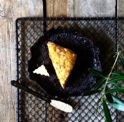 Three cheese scone