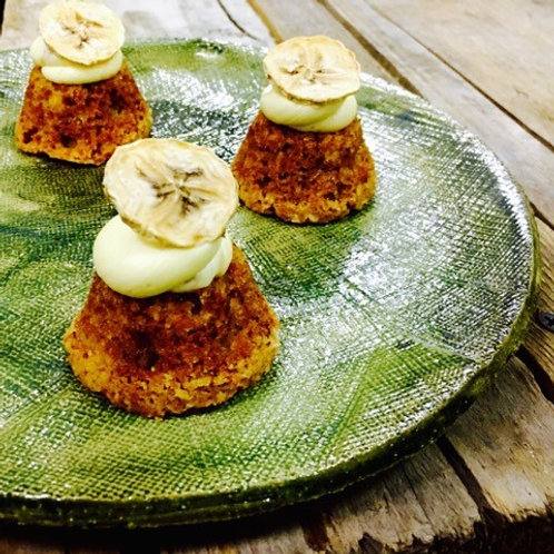 Banana Cakes with a whipped banana frosting