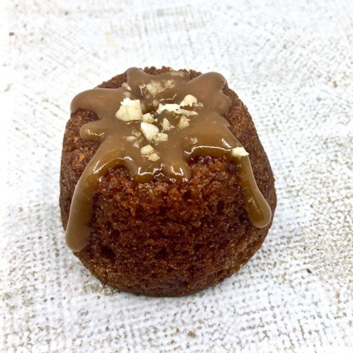 Date & Walnut Cake with Caramel Drizzle (gf, vg)