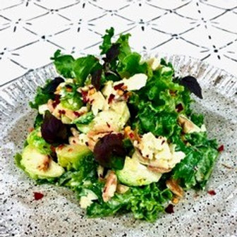 Sprouts, Organic Kale, with Tahini Maple Dressing, Chilli, Parmesan & Aioli