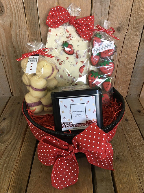 The Strawberry Valentine Basket