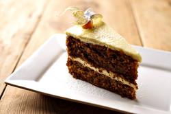slice carrot cake