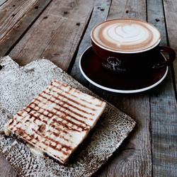 Toastie and coffee