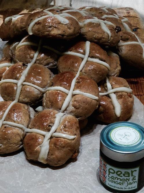 Hot Cross Buns by the dozen