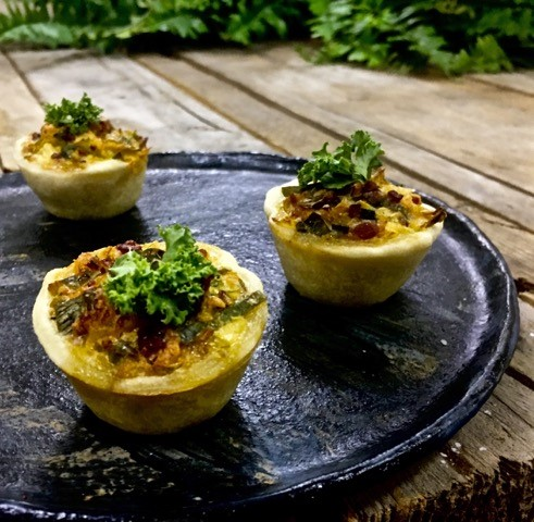Mediterranean roast vege mini quiche