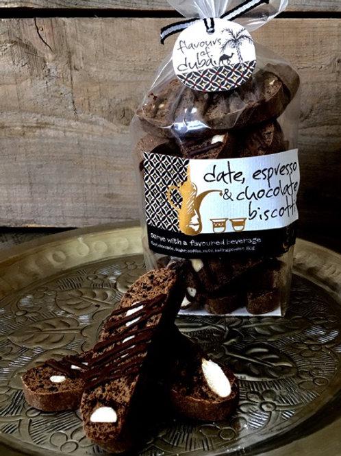 Date, Espresso & Chocolate Biscotti