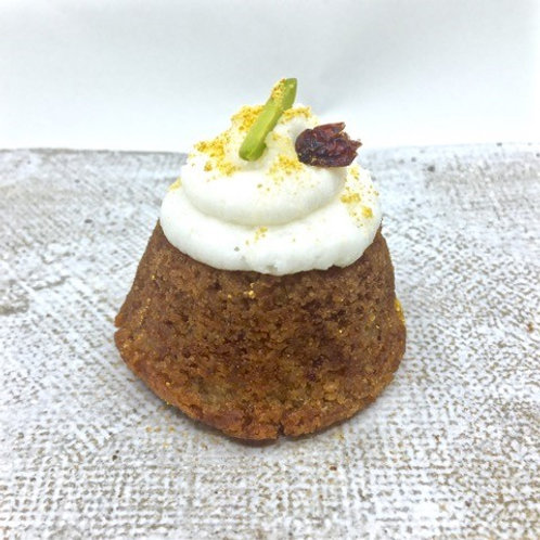 Carrot Cake with Coconut Frosting (gf, vg)