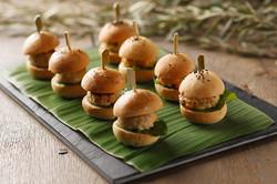 Gourmet mini burgers