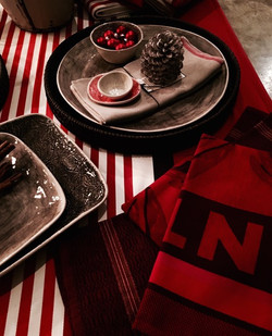 Red linen & homeware