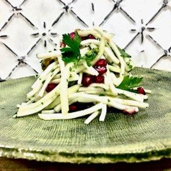 Marinated Celeriac & Apple Slaw with Pomegranate, Pistachio & Coriander