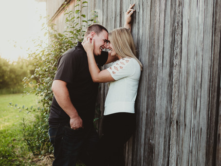 ENGAGEMENT SESSION WITH A PERFECT COUPLE - Rochester, NY