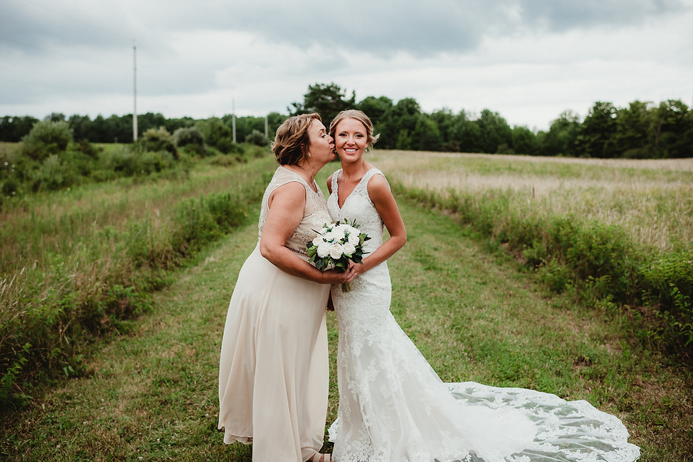 Mom and bride portrait shot.  Wedding Photographer Rochester, NY