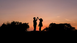 dramatic silhouette couple