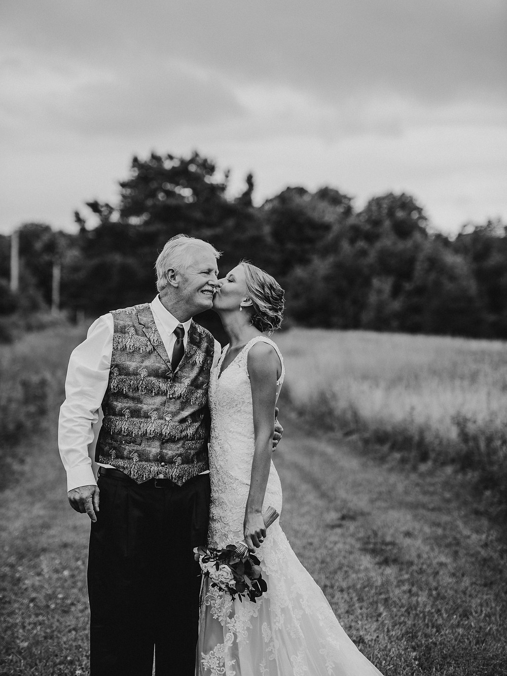 Father and bride wedding photo.  Wedding Photographer Rochester, NY