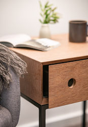 Bedside Table Mitred Drawer Front