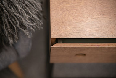 Bedside Table Mitred Drawer Front