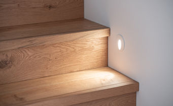 Solid Timber Stairs LED Lighting