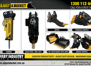 Be smart with quality and durable excavator attachments.