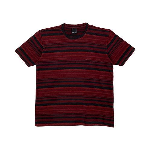 evenodd MULTI STRIPES TEE RED