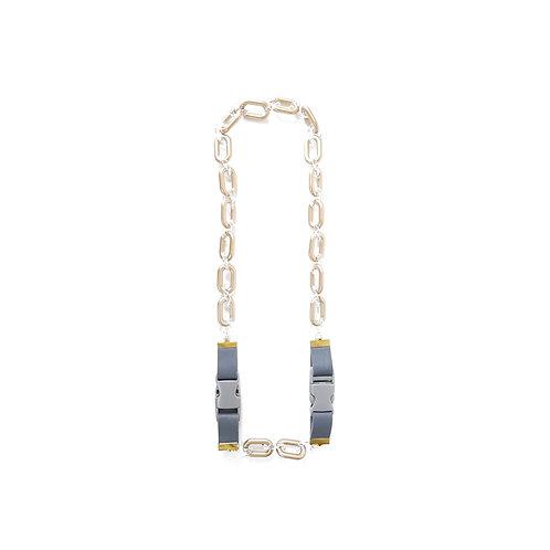 YARNYARN CHARVI necklace GRAPHITE