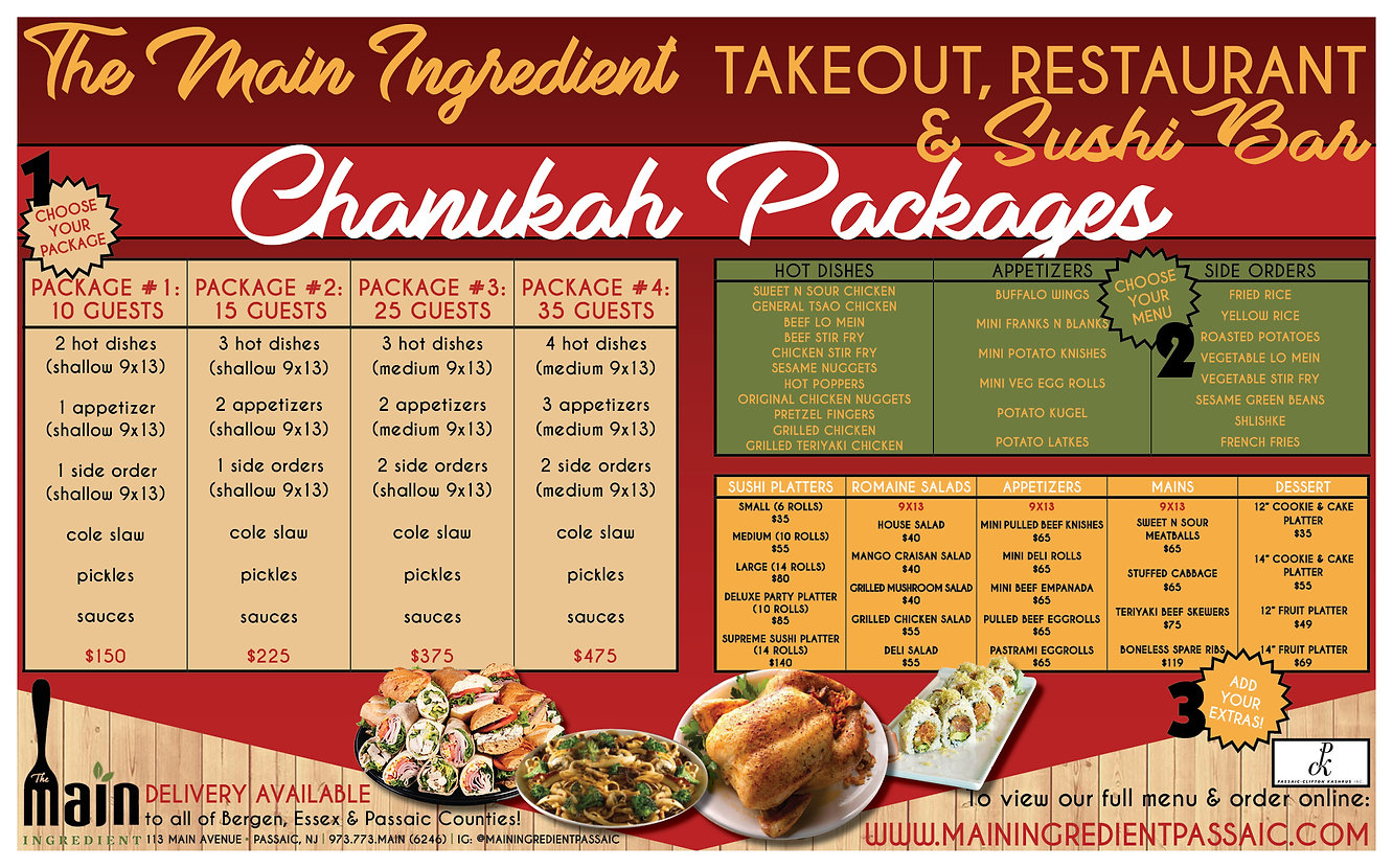 THe Main Ingredient Chanukah Ad December