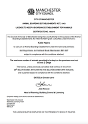 Manchester City Council Home Boarding Licence