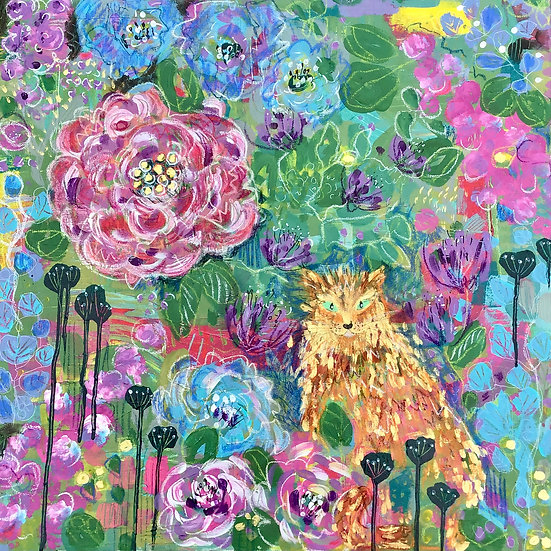 Marvellous Blooms and Tiggy Cat