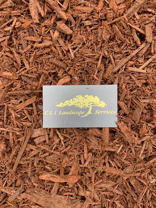 Bulk Triple Ground Dyed Cherry Brown Mulch cu. yd.
