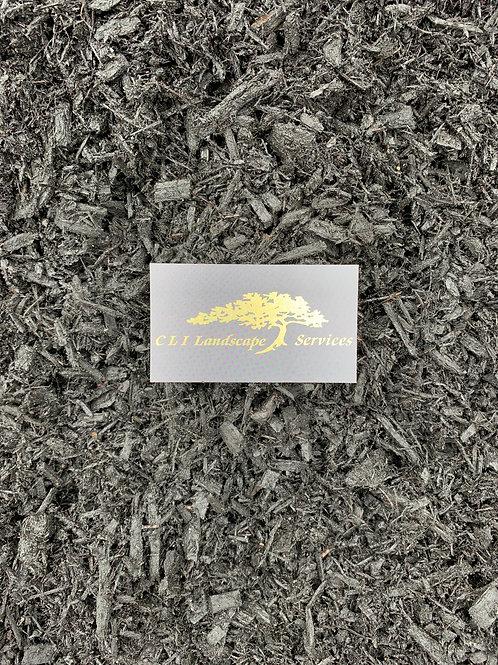 Bulk Triple Ground Dyed Black Mulch cu. yd.